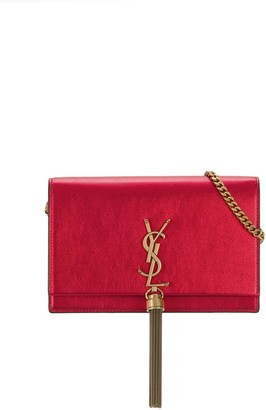 Saint Laurent Kate tassel chain wallet