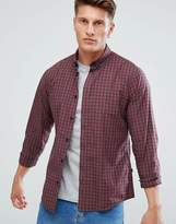 Solid Checked Shirt With Button Down Collar
