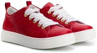 Lanvin Enfant Stitched Logo Sneakers