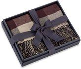 Reversible Fair Isle Gift Boxed Moose Knit Plaid Throw Blanket