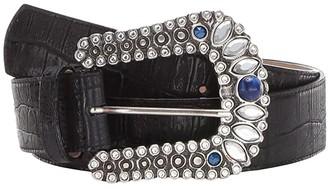 Leather Rock Lillith Belt (Gator Black) Women's Belts