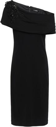 Badgley Mischka Off-the-shoulder Embellished Stretch-jersey Dress
