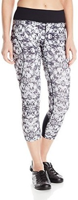 Shape Women's Abstract Floral Print Capri