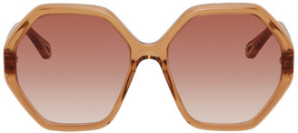 Chloé Orange Esther Hexagonal Sunglasses