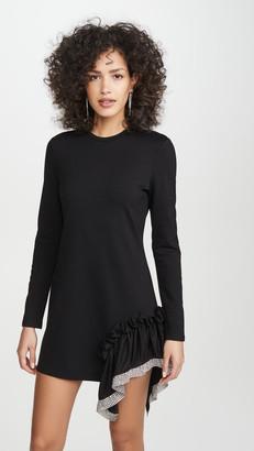 Area Ponte Jersey Crystal Peplum T-Shirt Dress