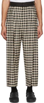 SASQUATCHfabrix. Black Block Check Wide Trousers