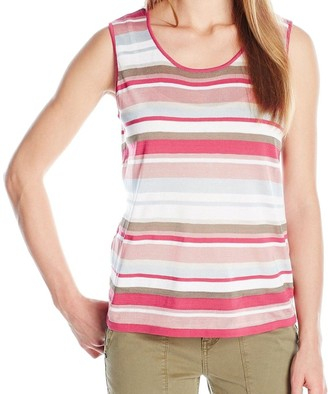 Anne Klein Women's Multi Stripe Sweater Tank