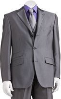 Men's Steve Harvey Gray Striped Suit Jacket