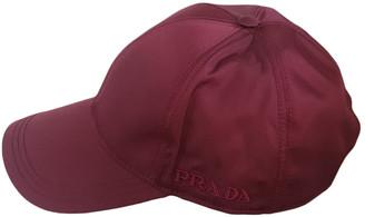 Prada Burgundy Polyester Hats & pull on hats