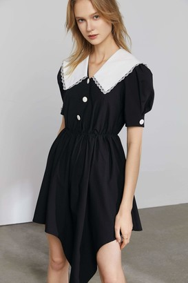 J.ING Princeton Black Pilgrim Collar Dress