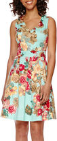 Tiana B Sleeveless Floral Fit-and-Flare Dress