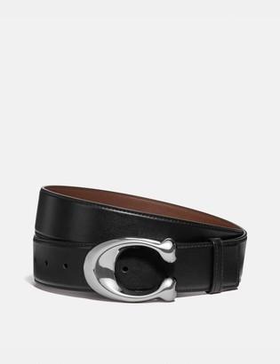 Coach Signature Buckle Cut-To-Size Dress Belt, 38Mm