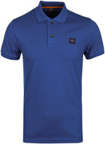 Paul & Shark Royal Blue Pique Short Sleeve Polo Shirt