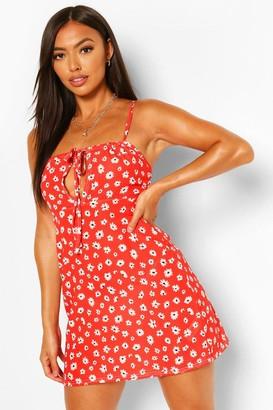 boohoo Petite Foral Mini Dress