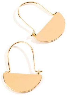 francesca's Bridget Half Moon Hoops - Gold