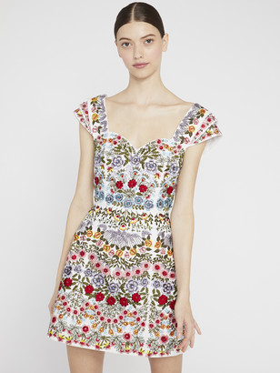 Alice + Olivia Roz Beaded Party Mini Dress