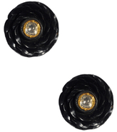 Amrita Singh 22K Gold Uncut Diamond and Ebony Fariza Earrings