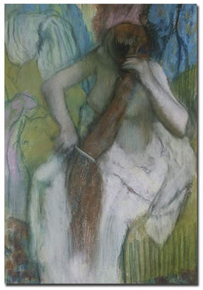 "Edgar Degas 'Woman Combing Hair, 1887-90' Canvas Art - 32"" x 22"""