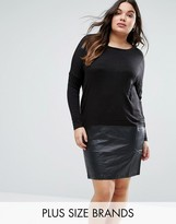 Junarose Juna Rose Plus Edition Dress With PU Skirt