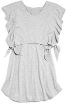 Splendid Girls' Flutter Sleeve Popover Dress - Big Kid
