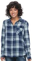 Mudd Juniors' Plaid Flannel Shirt