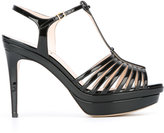 Fendi T-bar sandals - women - Leather/Patent Leather - 36
