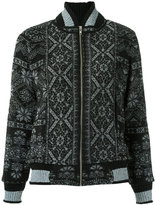 Cecilia Prado knit bomber jacket - women - Acrylic/Lurex/Polyimide - G