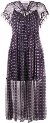 See by Chloe Geometric Print Maxi Dress