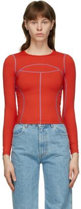 Eckhaus Latta Red Atomic Sport Long Sleeve T-Shirt