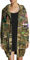 Marc Jacobs Patch-Embellished Camo Anorak Coat