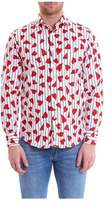 J.W.Anderson Men's White/red Cotton Shirt.