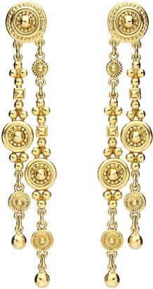 Ben Amun Textured Double Dangle Earrings