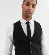 Asos Design ASOS DESIGN Tall skinny waistcoat in black