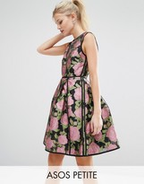 Asos SALON Pretty Floral Rose Soft Mini Dress