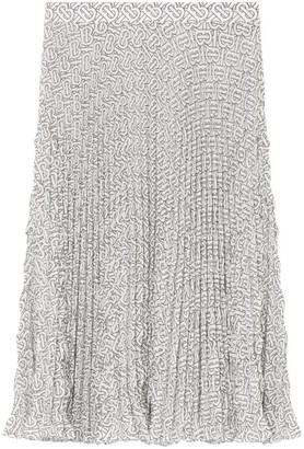 Burberry Monogram Midi Skirt