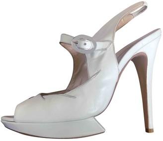 Nicholas Kirkwood White Leather Heels