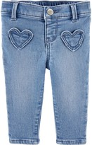 Osh Kosh Oshkosh Bgosh Baby Girl Heart Pocket Jeggings