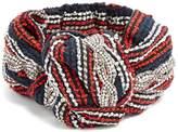 Gucci Crystal-embellished striped headband