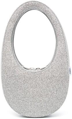 Coperni mini Swipe glitter tote bag