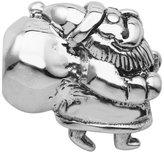 Persona Sterling Silver Oxidized Santa Claus Bead fits Pandora, Troll & Chamilia European Charm Bracelets