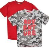 Wallis **Boys 2 Pack Assorted Short Sleeve 'Adventure' T-Shirts (5 - 12 years)