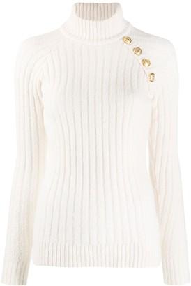 Balmain Button-Embellished Knitted Jumper