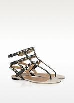 Valentino Garavani Rockstud - Calfskin and Nappa Leather Sandal