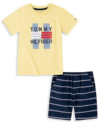 Tommy Hilfiger Baby Boy's Two-Piece T-Shirt Shorts Set
