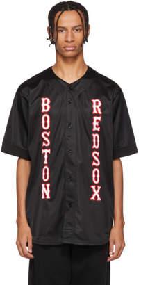Marcelo Burlon County of Milan Black Boston Red Sox Edition Applique Shirt