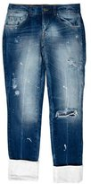 Pierre Balmain Mid-Rise Distressed Jeans