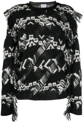 P.A.R.O.S.H. Open-Knit Geometric Sweater