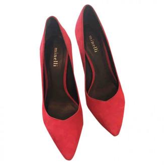 Minelli Red Velvet Heels