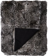 Adrienne Landau Lynx-Print Fur Throw