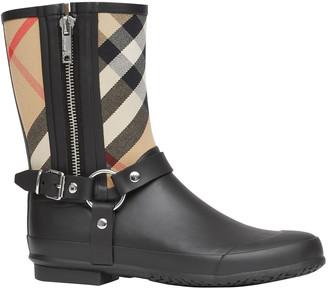 Burberry Zane Vintage Check Harness Rain Boots